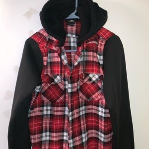 Men winter shirt hoodie sz M